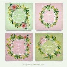 浪漫的花框