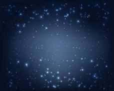 闪烁魔术蓝午夜背景