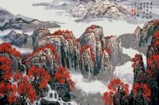 古典中式油画风景装饰画