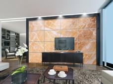现代大理石瓷砖电视背景墙设计