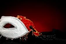 红白面具图片