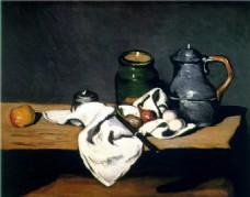 油画茶具装饰画
