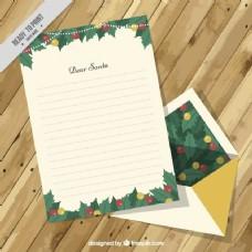 圣诞装饰用卡片和信封