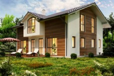 高档别墅建筑设计透视图片