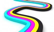 CMYK弯曲曲线图片