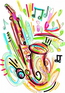 手绘创意乐器