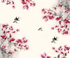 花卉元素背景装饰画