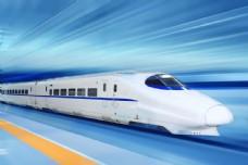 高清火车行走效果图图片