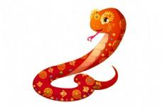 春节卡通蛇吉祥物图片