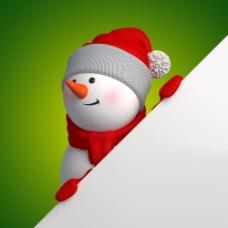 牌子与雪人图片