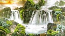 山峰装饰背景墙