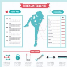 健身信息图表