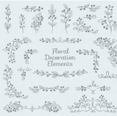 手绘花卉装饰
