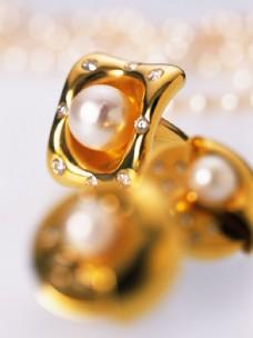 珍珠黄金首饰图片