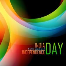 印度独立日丰富多彩的背景