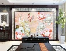 玉石雕刻电视背景墙设计素材