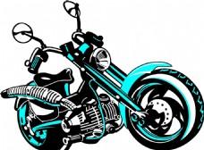 卡通摩托车