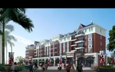 步行街建筑设计图片
