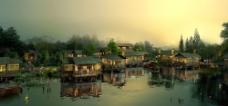 中国古典园林景区效果图片