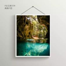 峡谷海岸摄影无框装饰画