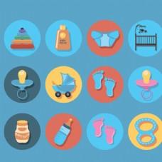 婴儿用品图标