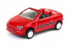 红色玩具跑车图片