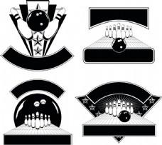 保龄球标志图片