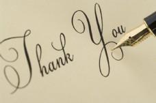 钢笔书写谢谢字母图片