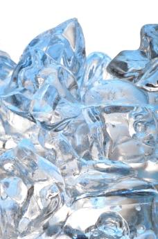 结冰的冰块图片