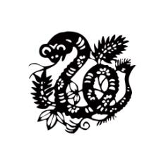 蛇形剪纸图片