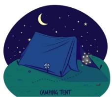野营帐篷插画