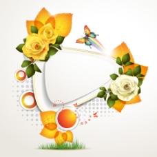 蝴蝶与鲜花背景图片3