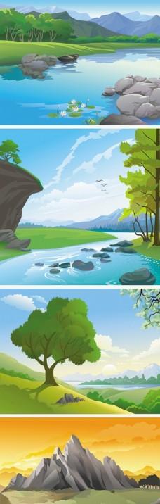 卡通手绘 风景海报