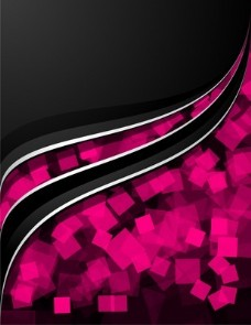 抽象粉红与波浪背景