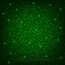 高科技抽象绿色背景