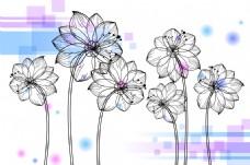 荷花花卉装饰画