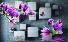 抽象立方体背景墙