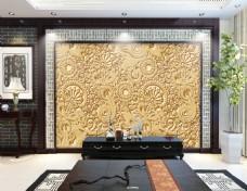 花纹装饰背景墙