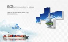 商务船只广告设计PSD素材