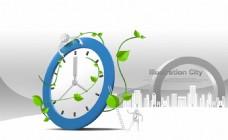 高清时钟生长创意商务科技