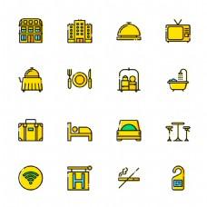 16 枚旅馆图标