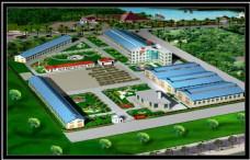 工厂建筑鸟瞰图片
