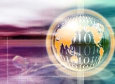 抽象创意地球数字科技背景图片