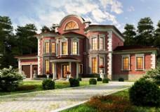 别墅建筑效果图片