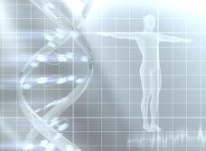 DNA双螺旋与人体图片