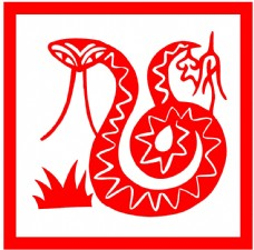 剪纸蛇艺术图片