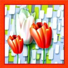 3D花朵装饰画