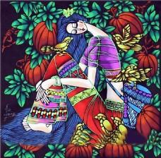 彩色女妖装饰画