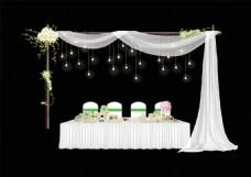 森系主题婚礼签到台背景
