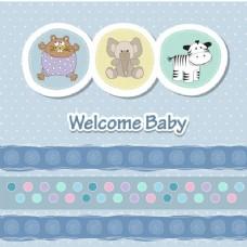 婴儿淋浴用动物卡